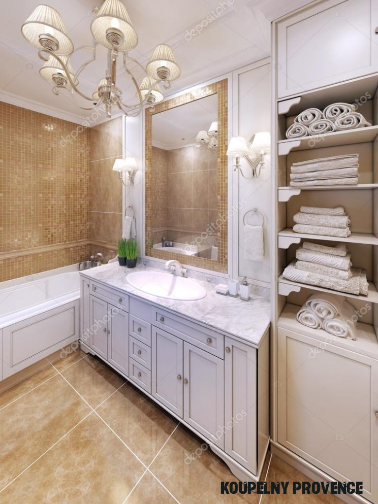 Interior of provence bathroom 14