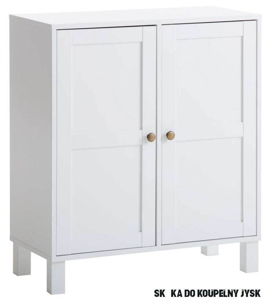 Skříňka SKALS 11 dveře bílá