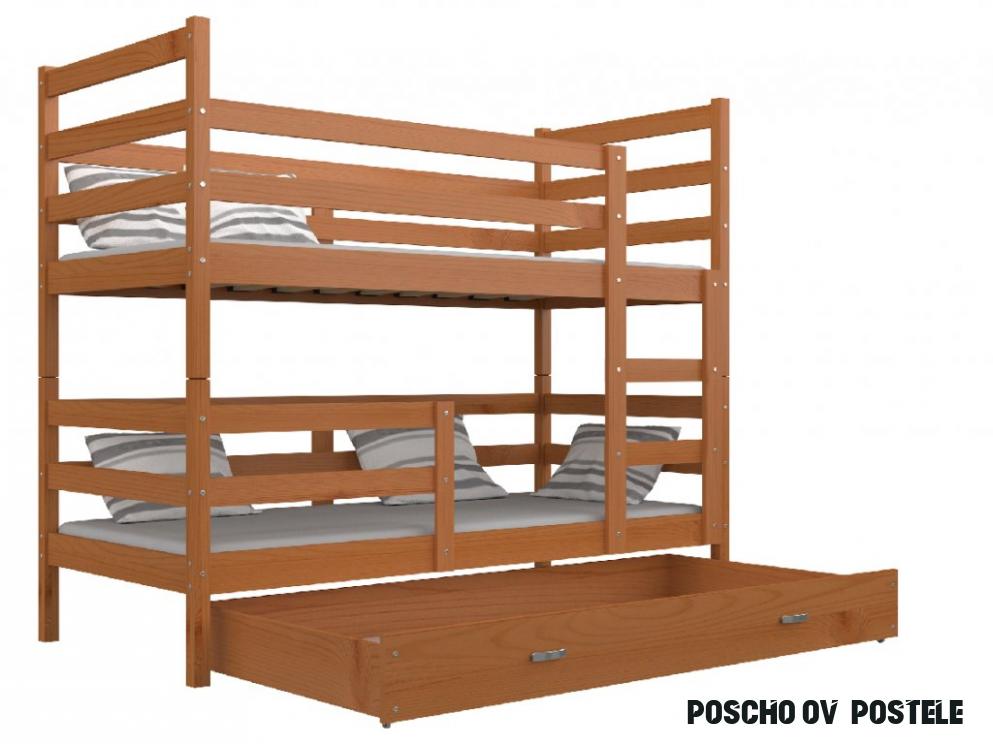 Poschodová posteľ Erik 15 Jelša