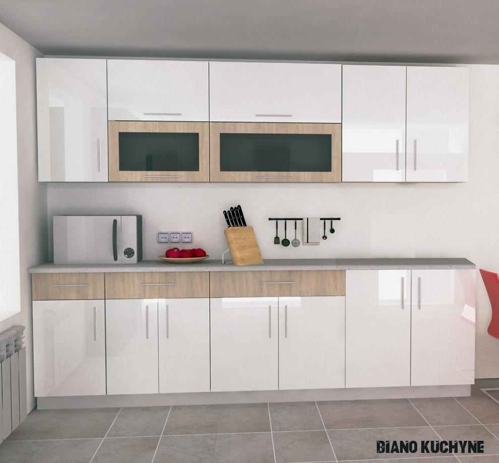 Lesklé kuchyňské linky  Biano
