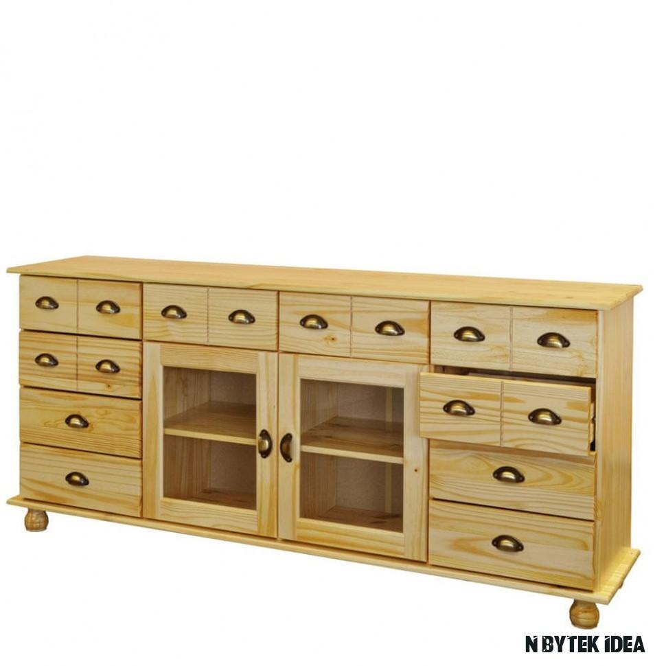 IDEA nábytek Komoda s dvířky a zásuvkami 18