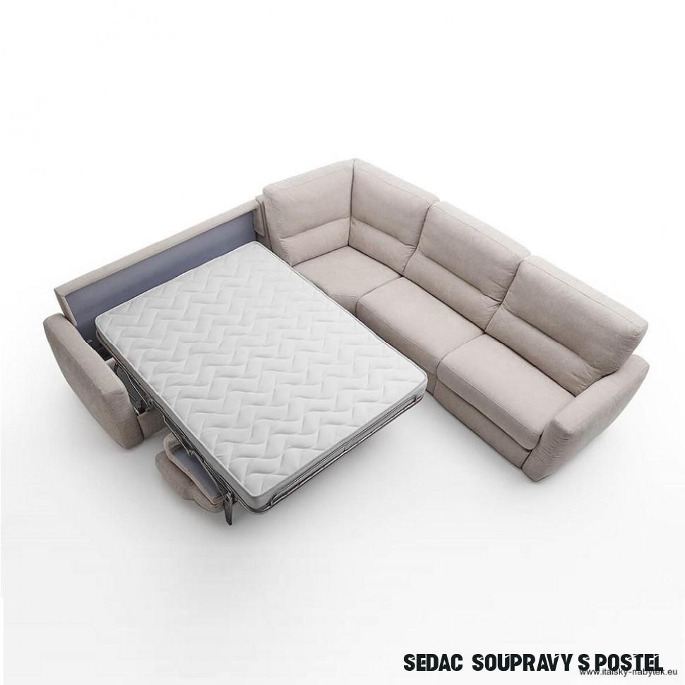 RELAXO - rohová sedací souprava s rozkládací postelí
