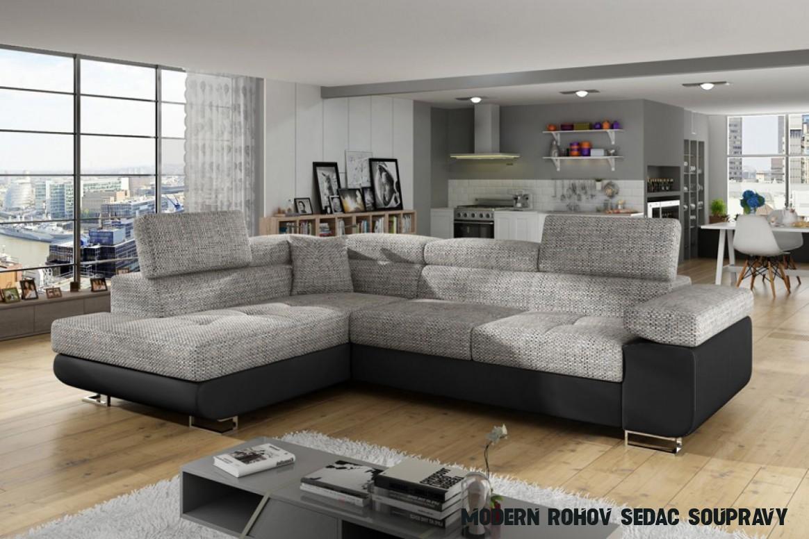 Moderní Rohová sedací souprava Annabelle do obývacího pokoje