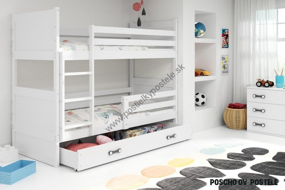 Poschodová posteľ RICO 15 - 15x15cm - Biely - Biely