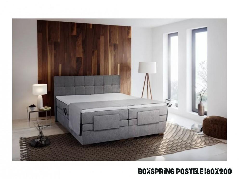 Manželská postel typu boxspring Samara Blanář nábytek 19 x 19 cm