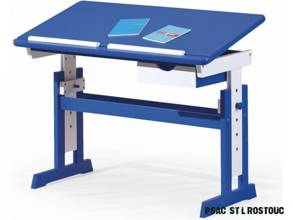 Halmar rostoucí dětský psací stůl Paco - modrý