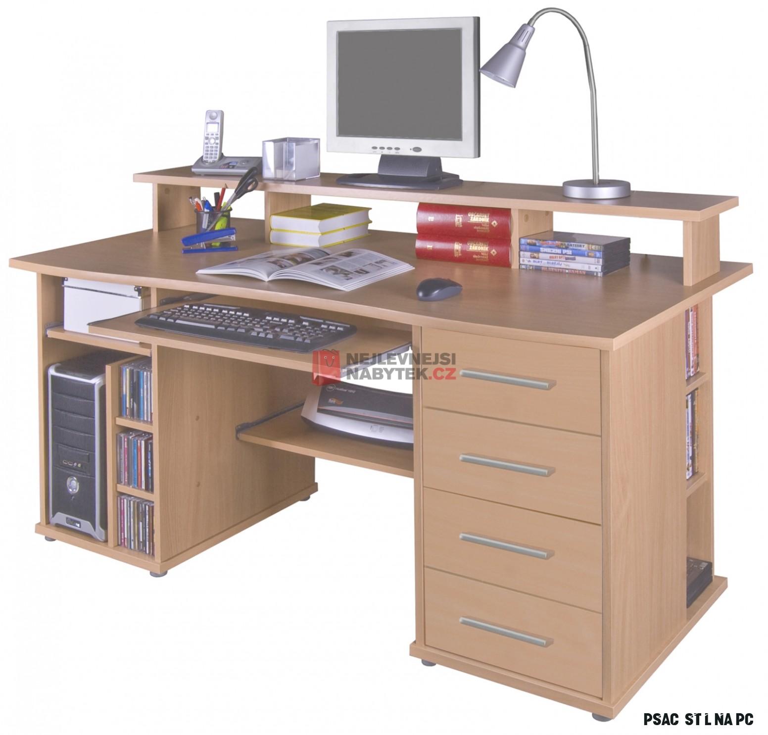 PC stůl FRANZ, buk  NEJLEVNEJSINABYTEK.CZ