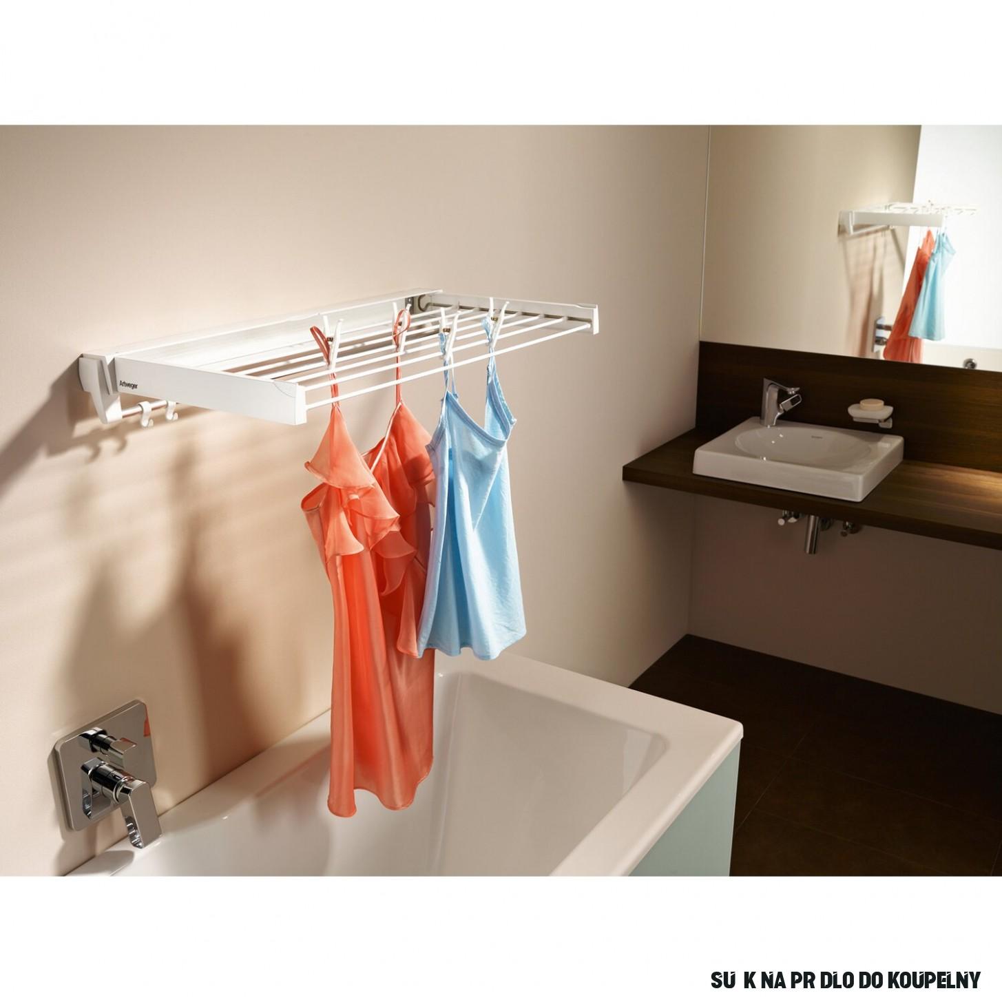 Artweger Sušák na prádlo ArtDry nástěnný 9 cm