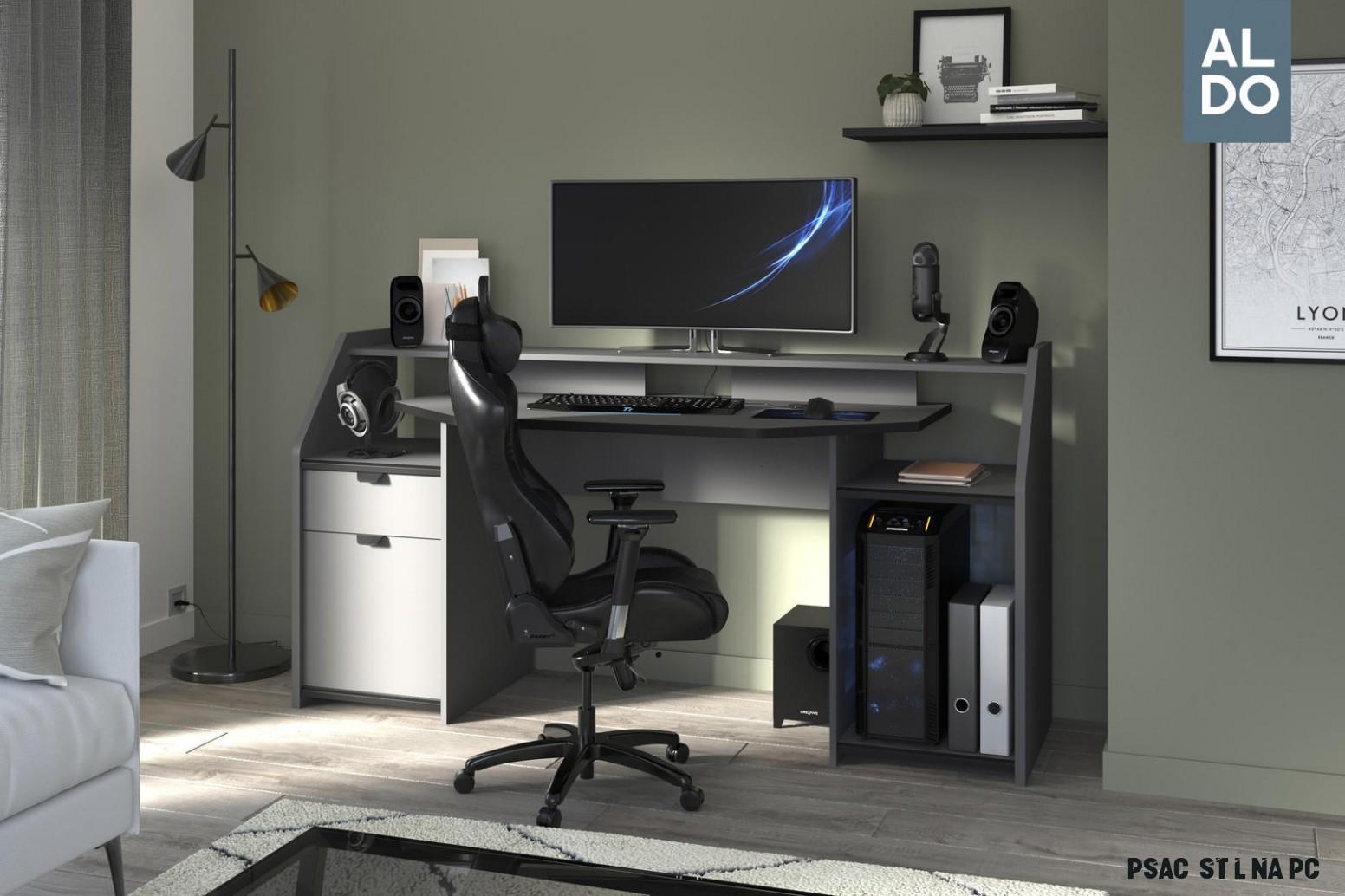 PC psací stůl Set-up černý