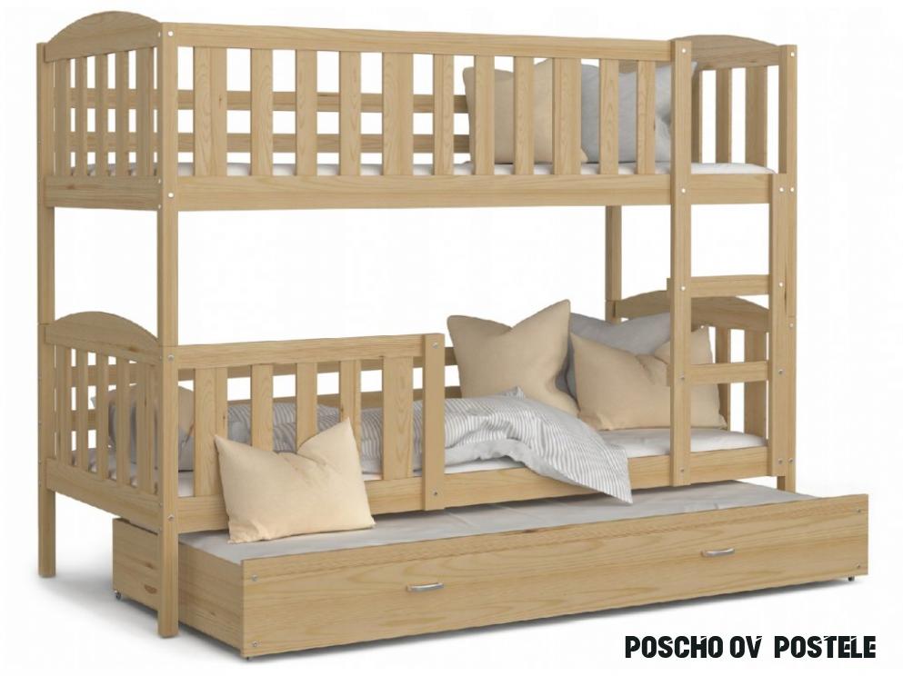 Poschodové postele s prístelkou