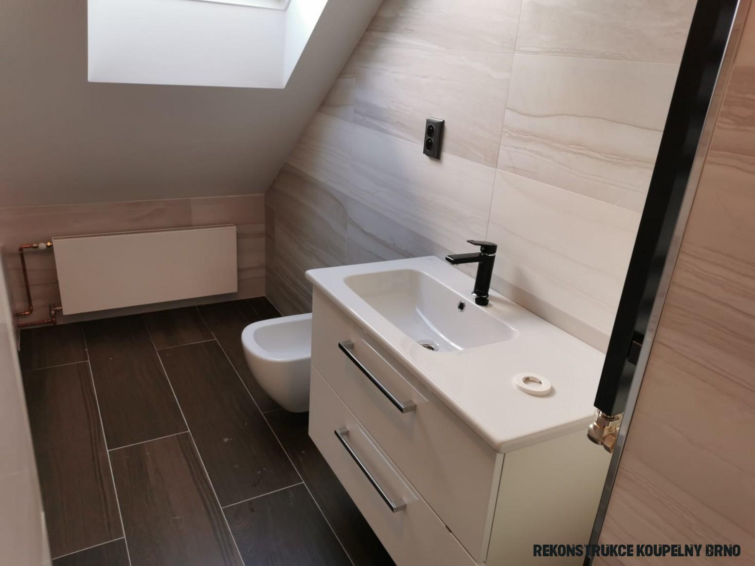 Rekonstrukce koupelny Brno  Levně se 20% zárukou a bonusem