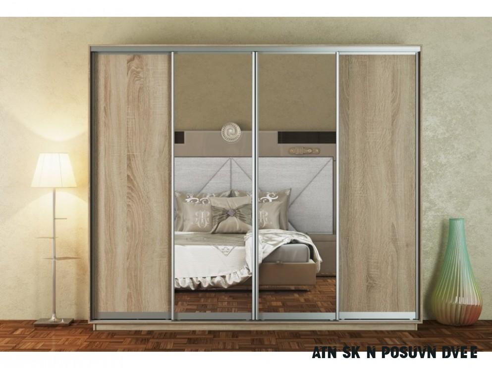 Šatní skříň 10 cm s posuvnými dveřmi v dekoru dub sonoma se