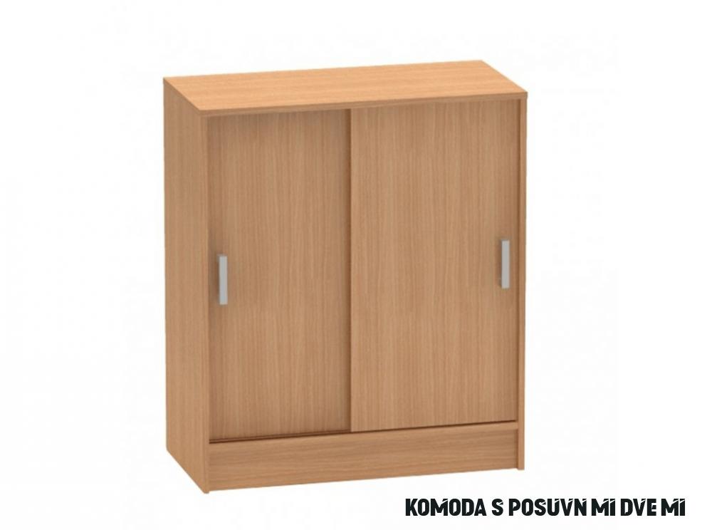 Komoda s posuvnými dveřmi v dekoru buk TK18 TYP18 - NAKUP-NABYTEK.cz