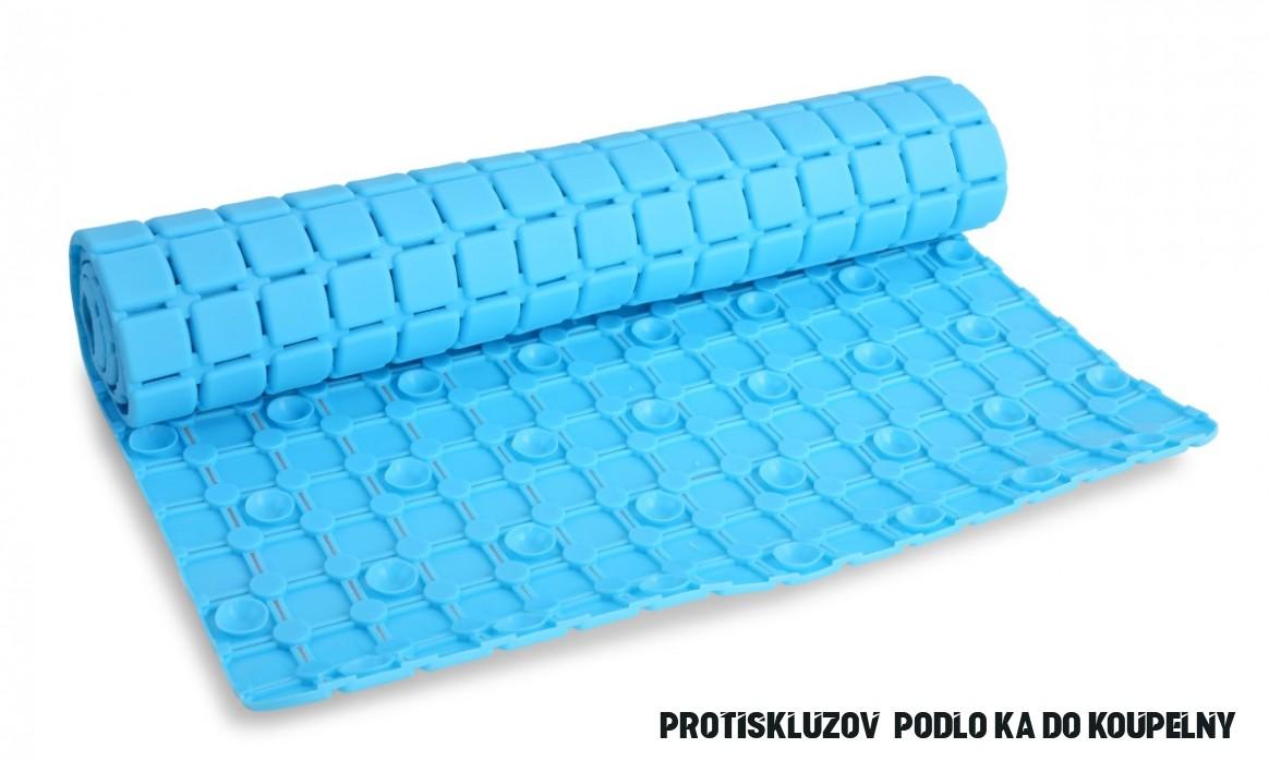 Protiskluzová podložka do vany a sprchy, tyrkysově modrá, 17 x 17 cm