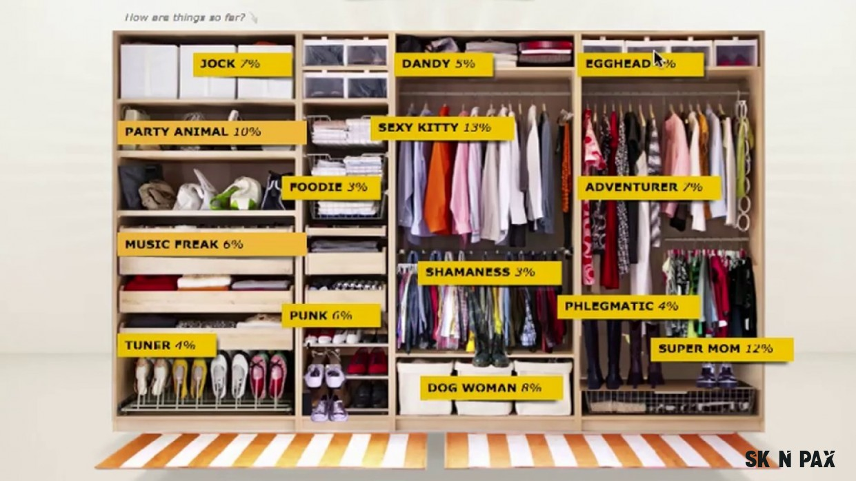 Ikea skříně PAX
