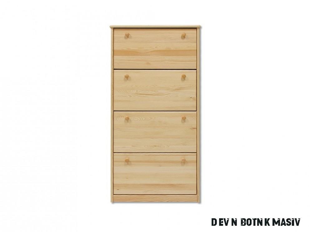 Dřevěný botník masiv 13 z borovice
