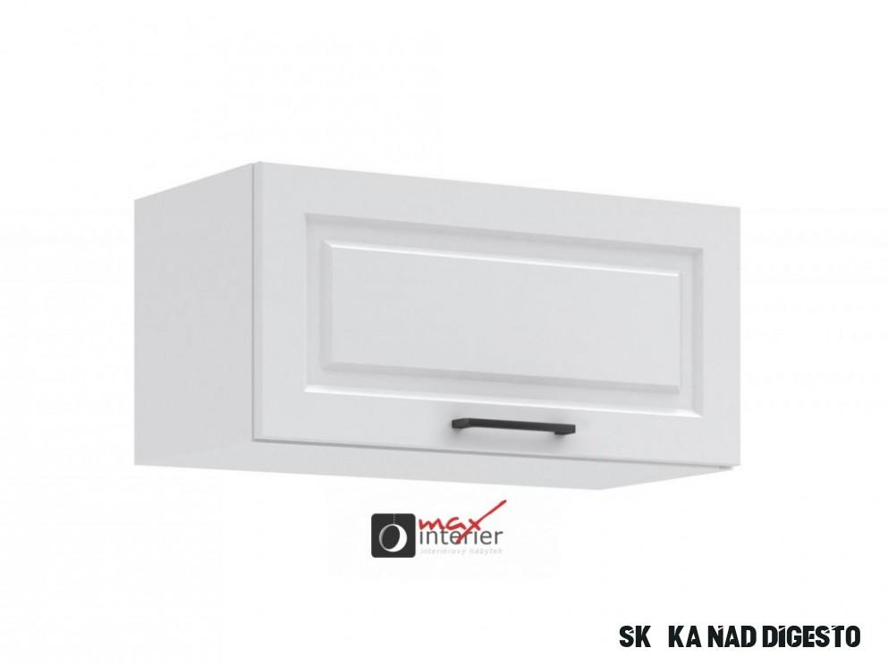 Kuchyňská skříňka nad digestoř Irma KL1111-11D bílá MAT - Max-interier.cz