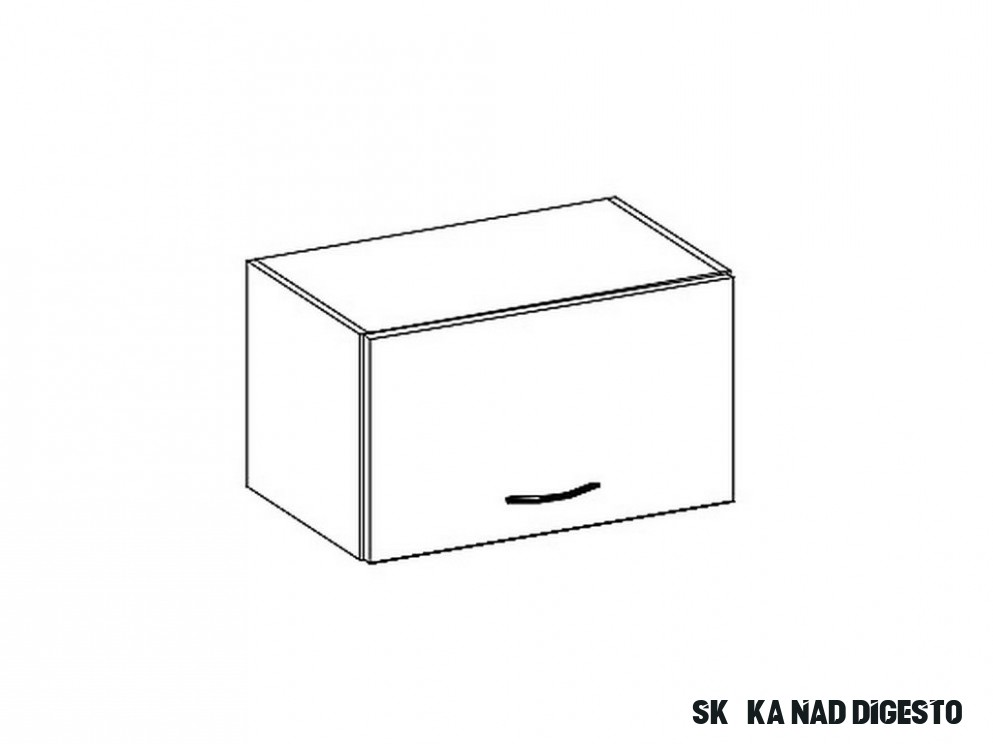 W11OK skříňka nad digestoř GREY Nábytek Pyramida