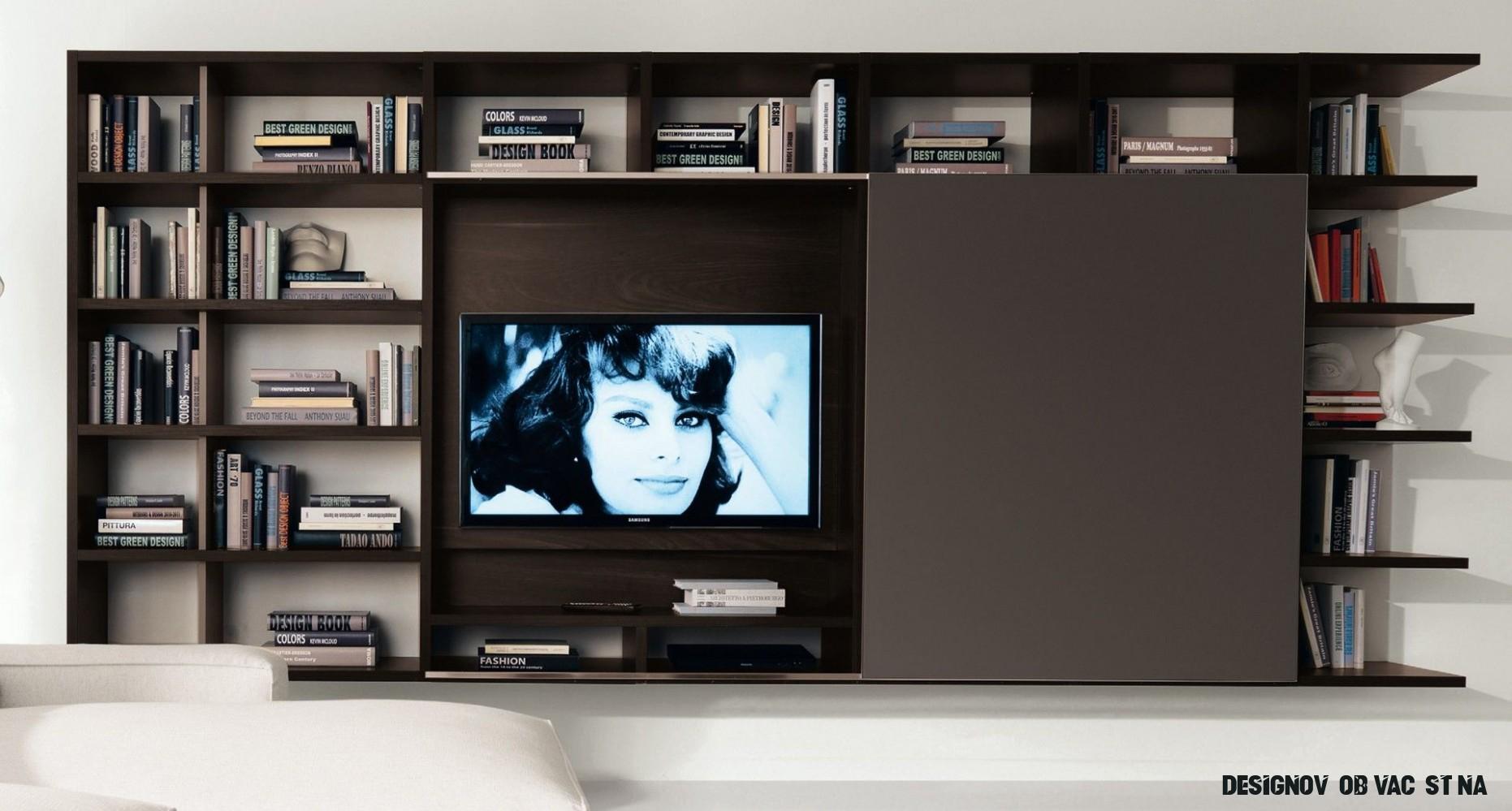 Moderní nábytek do obývacího pokoje, luxusní obývací stěny