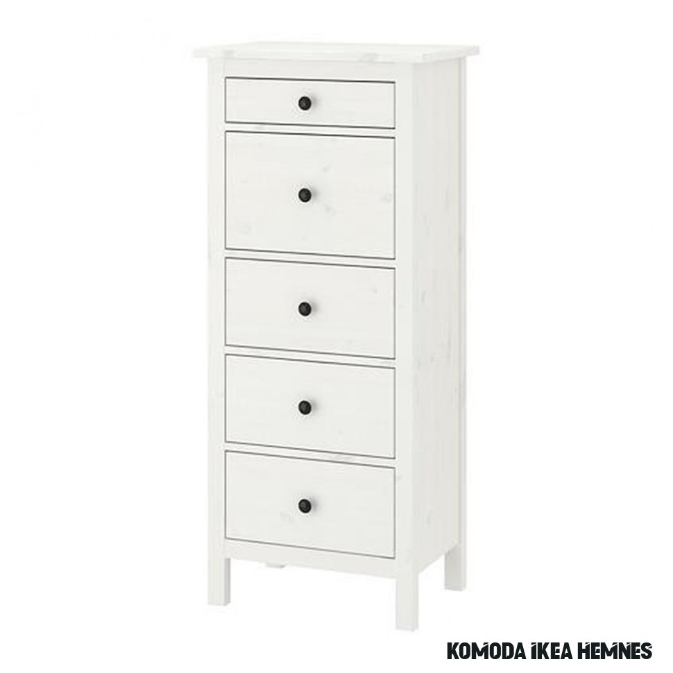 HEMNES chest of drawers with 7 drawers white stain 78x7x7 cm