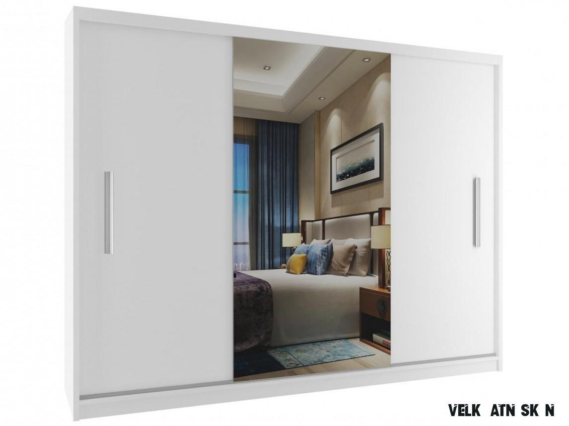 Velká šatní skříň s posuvnými dveřmi Mitzi 13 cm