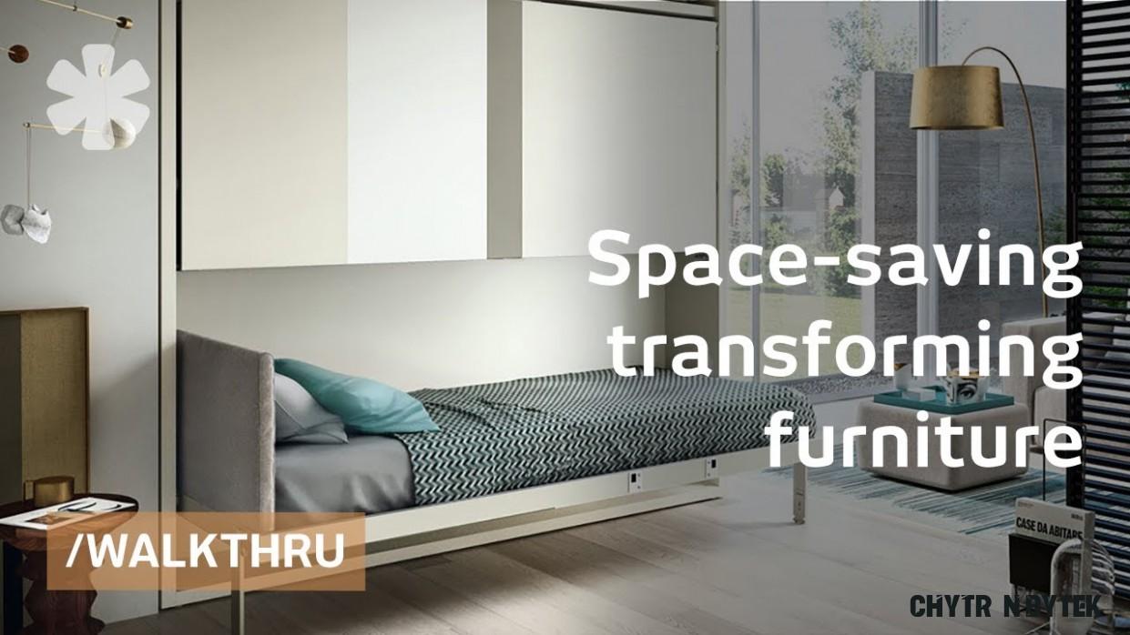 Úsporný skládací nábytek šetřící místo v bytě: Postel ve stěně i