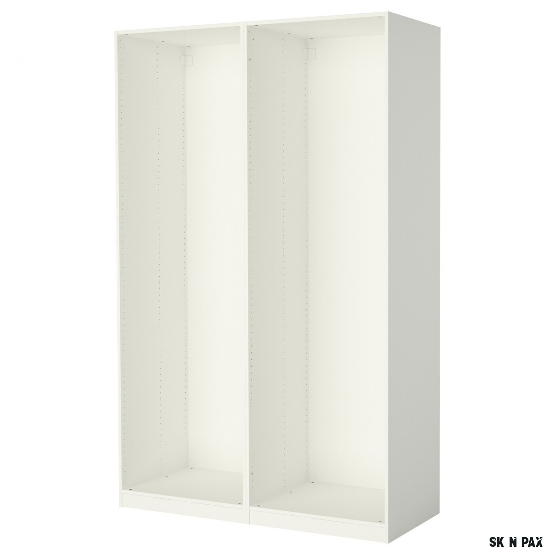 PAX 7 rámy šatní skříně - bílá 7x7x736 cm