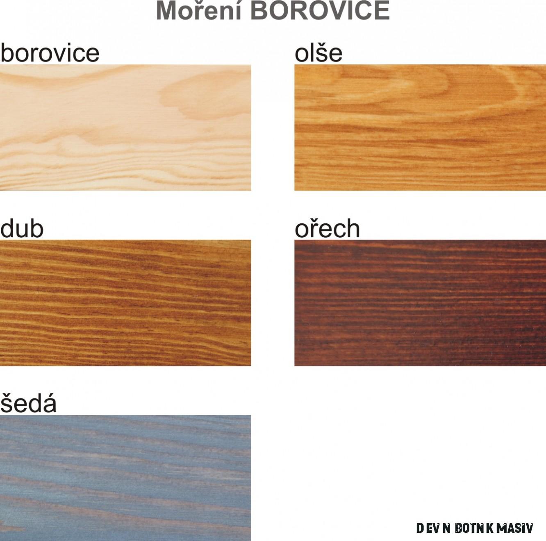 SB13 dřevěný botník masiv borovice Drewmax
