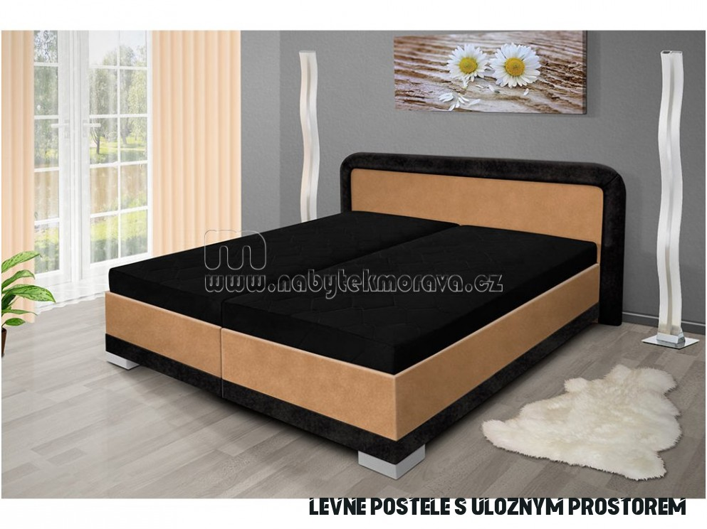 Manželská postel s úložným prostorem Jaro 19x19