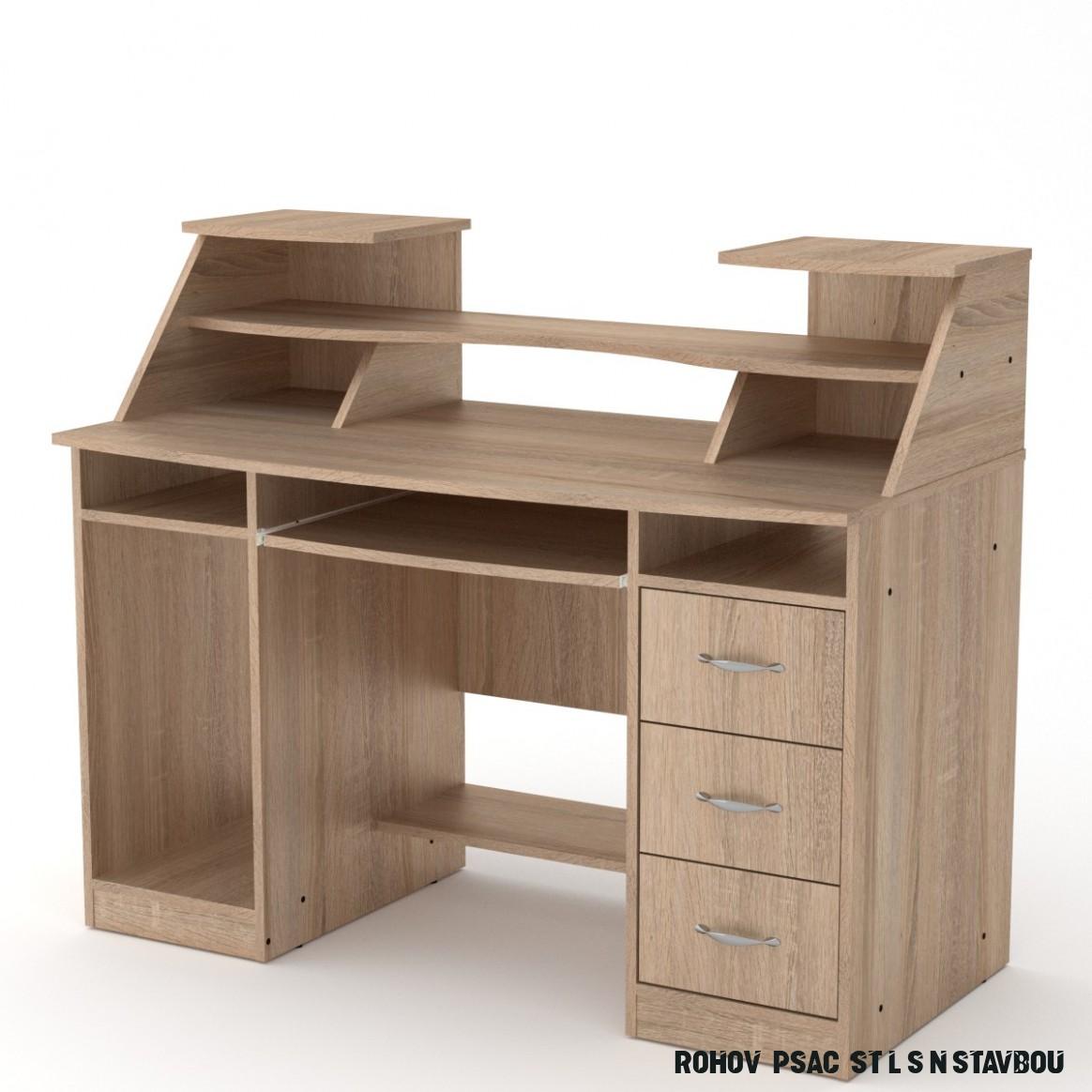 PC stůl SK KOMFORT 8 - 8x8cm - Nabytek z lesa.cz