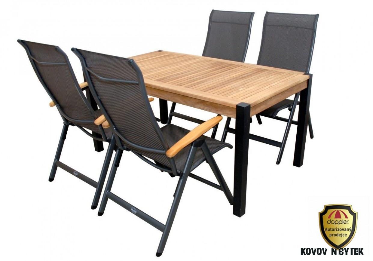 Kovový hliníkový nábytek sestava Set Yelmo II Doppler- doprava ZDARMA