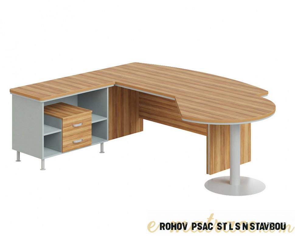 Rohový kancelářský stůl Berlin Lux se skříňkou 8 cm  E-matrace.com