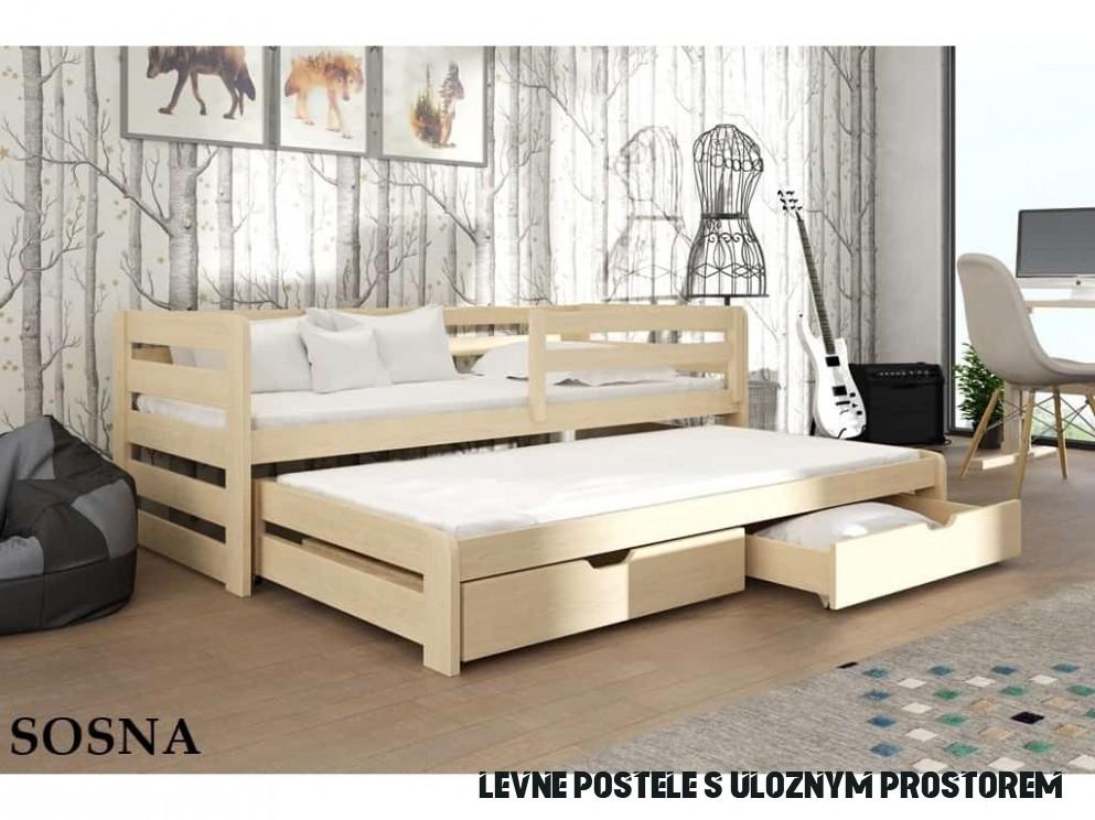 Rozkládací postel Senso 19x119 cm s úložným prostorem