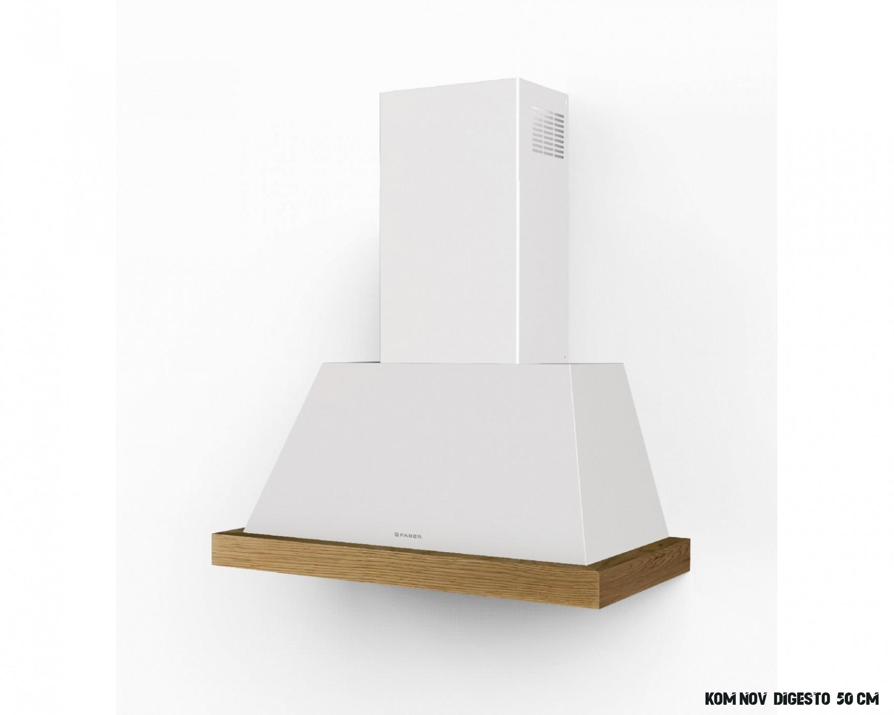 Rustikální komínová digestoř THEA WH MATT bílá, 12 cm