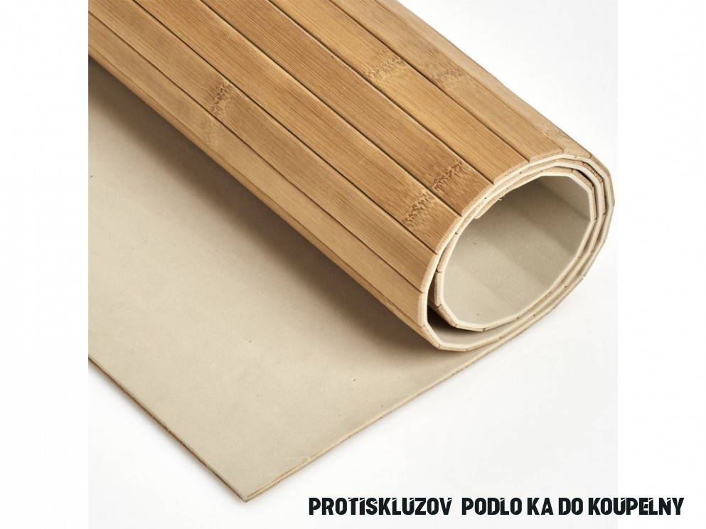 Protiskluzová podložka do koupelny BAMBOO, 17 x 17 cm, ZELLER-EMAKO.cz