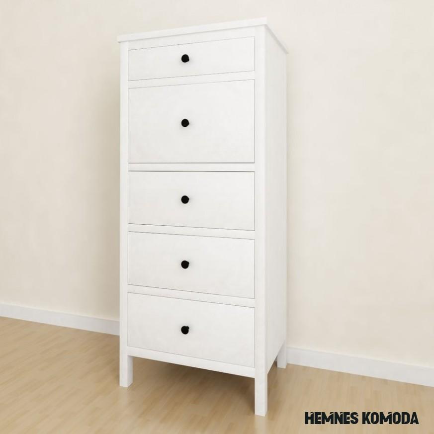 Ikea Hemnes 20-drawer chest 20D Model $20 - .max - Free20D