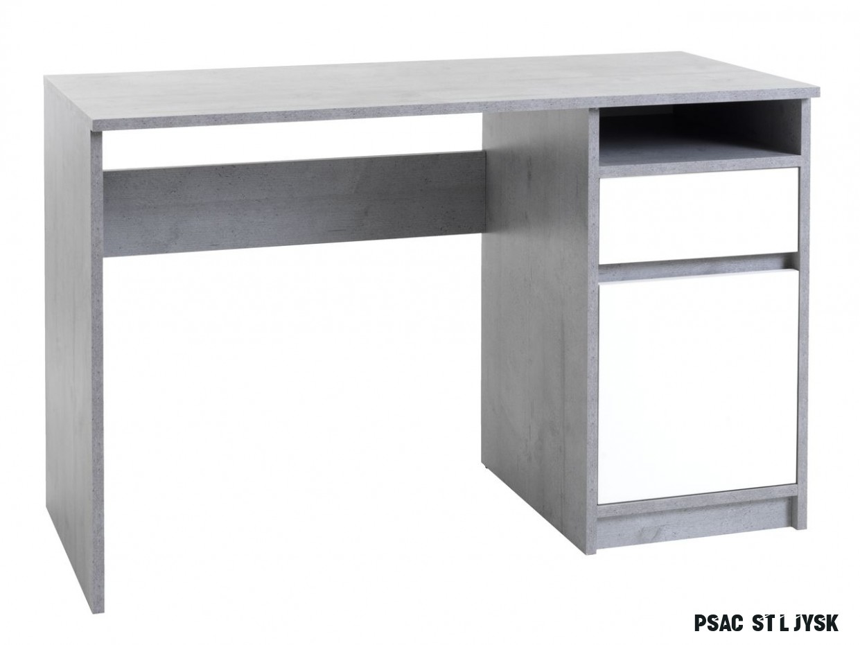 Psací stůl BILLUND 12x12 beton/bílá