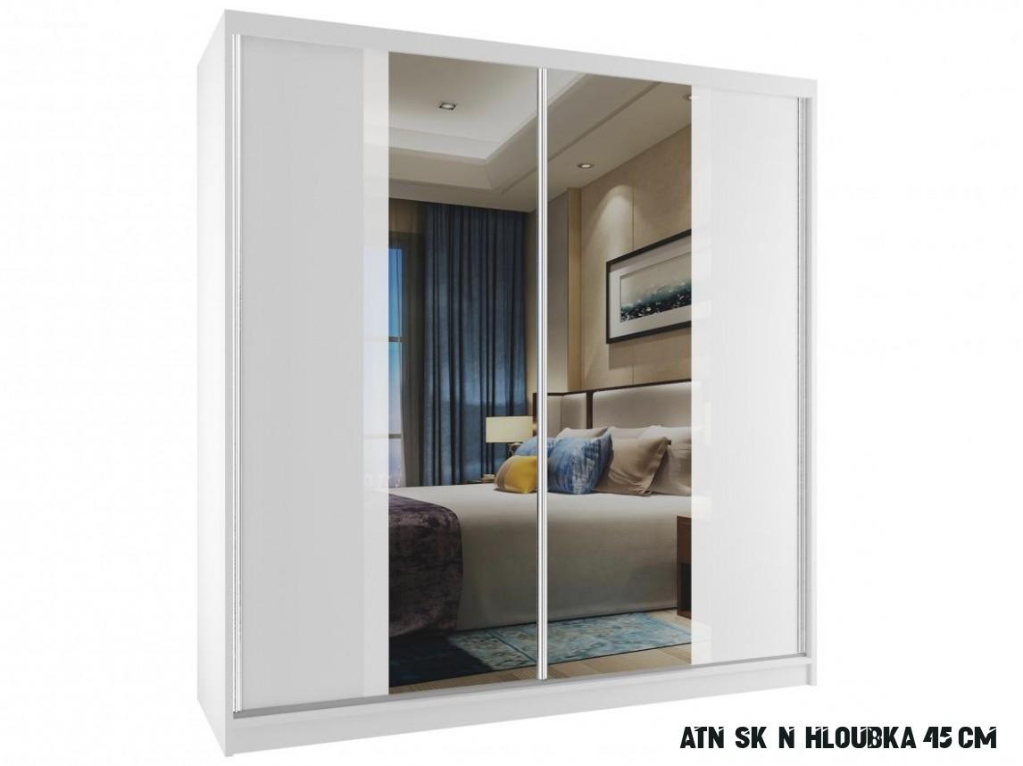Bílá skříň se zrcadlem Grimy 16 cm