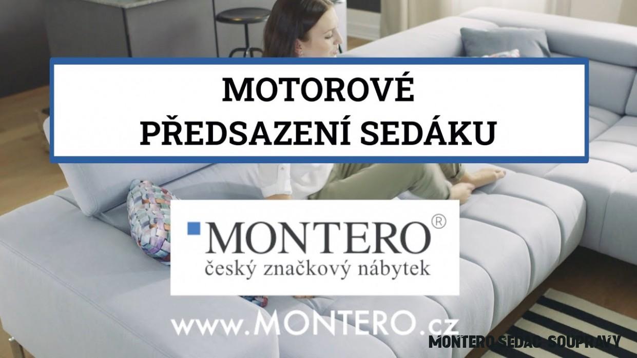 Sedací soupravy MONTERO® - Funkce Motorové předsazení sedáku