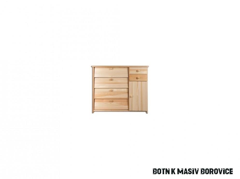 Dřevěný botník masiv 18 z borovice