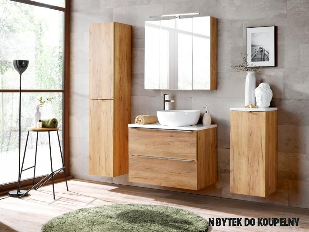 Koupelnová sestava - CAPRI, 200 cm, sestava č. 20, zlatý dub