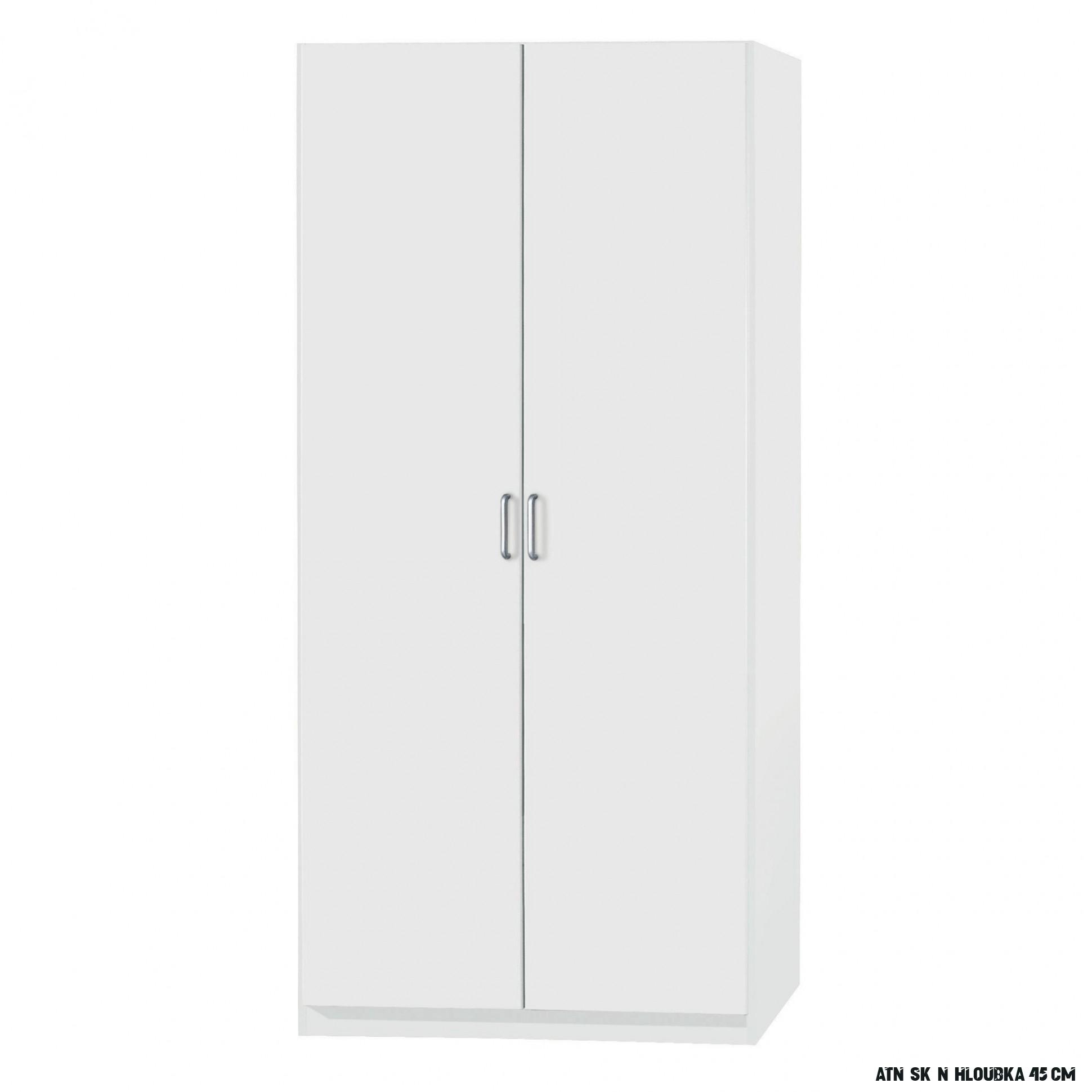 Policová skříň PARKER bílá, výška 16 cm, hloubka 16 cm  Sconto