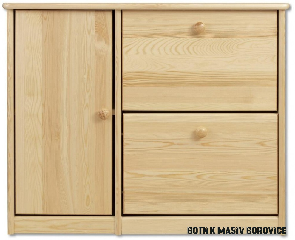 Drewmax SB18 dřevěný botník masiv borovice