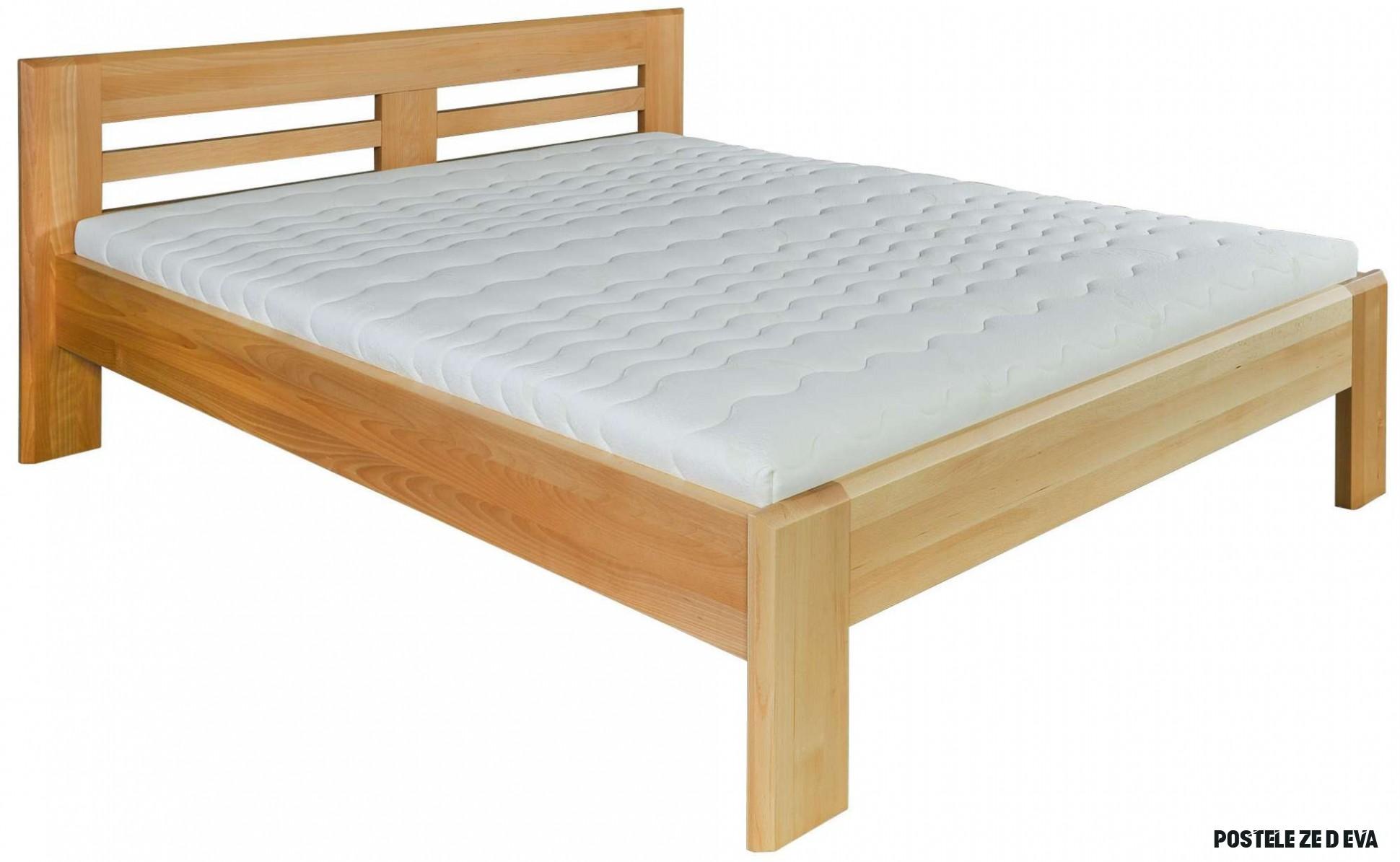 Dřevěná manželská postel z bukového dřeva 15 cm  Zadara nábytek.cz