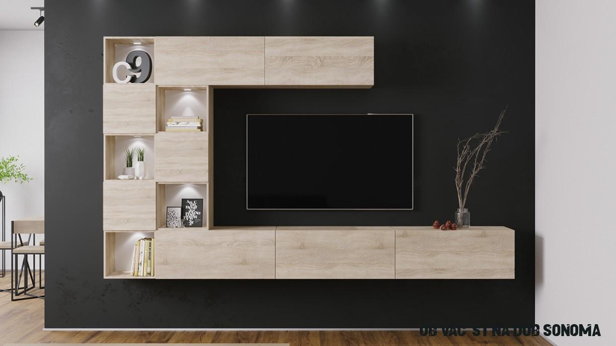 Obývací stěna ONYX 19 dub sonoma