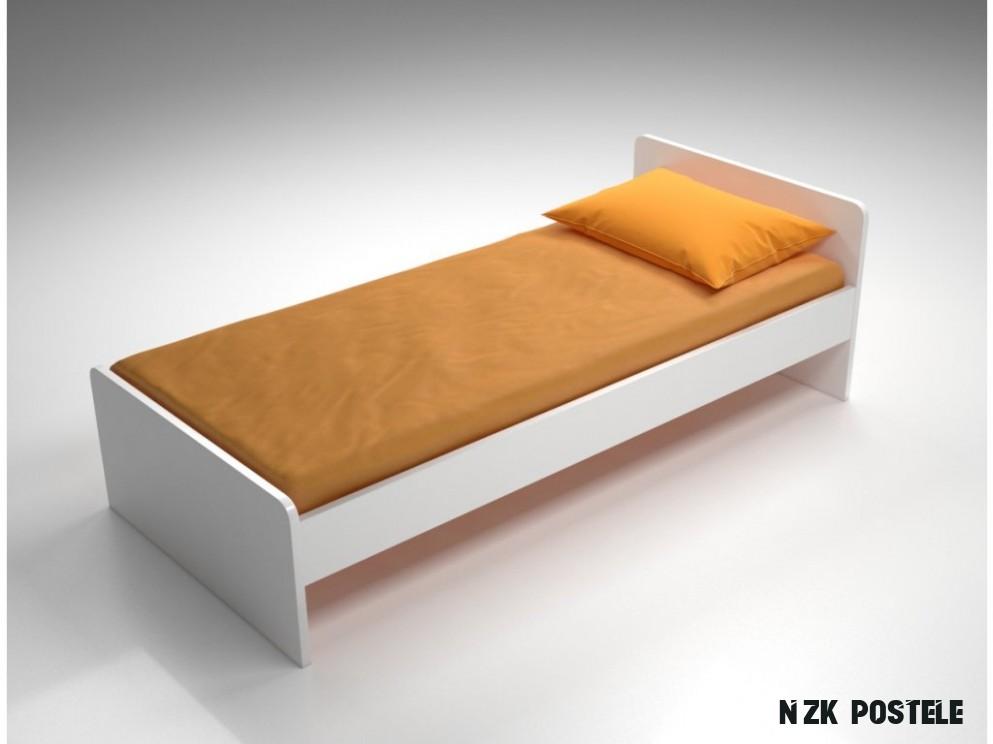 MYHM postel 8x8 cm lamino BÍLÁ čelo nízké a čelo vysoké