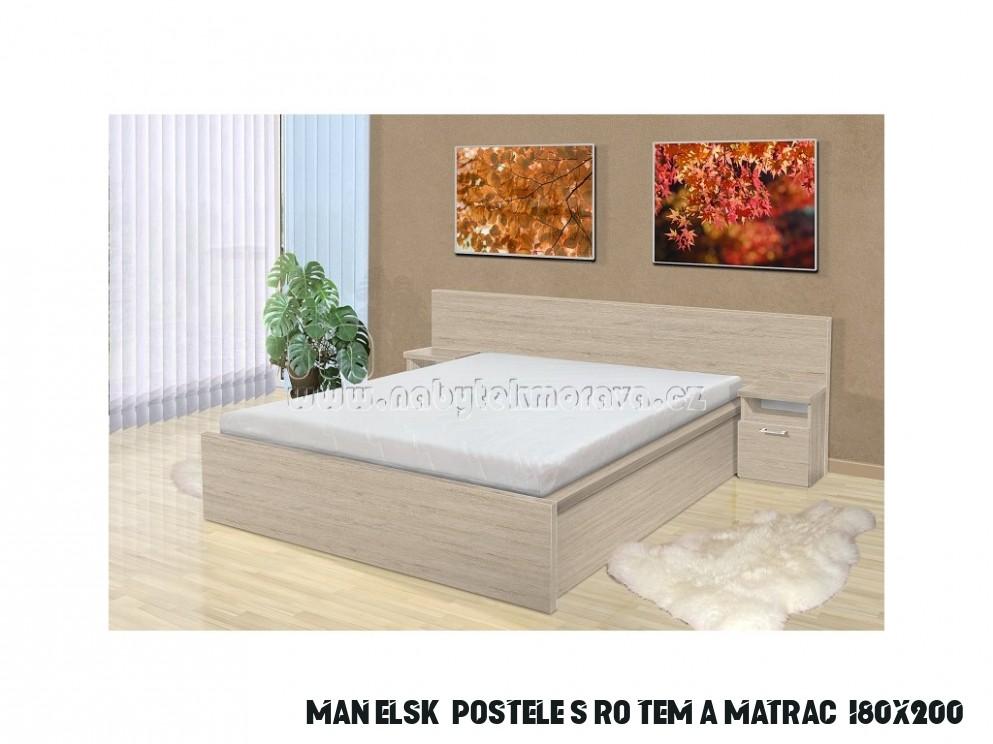 الأشعة تحت الحمراء مسرحي حليف postele s roštem a matrací