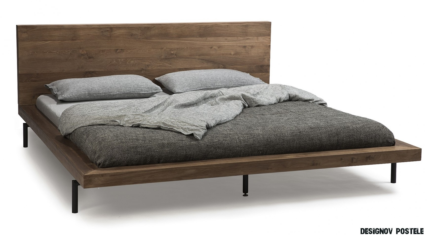 Ethnicraft designové postele HP Bed (pro matraci 18 x 18