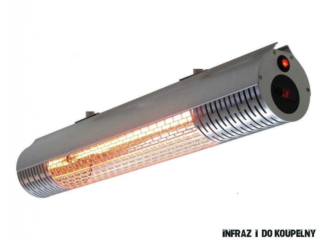 IQ-STAR M Silver 20-20W, 20V infrazářič karbonový, stříbrný s DO  IQtherm