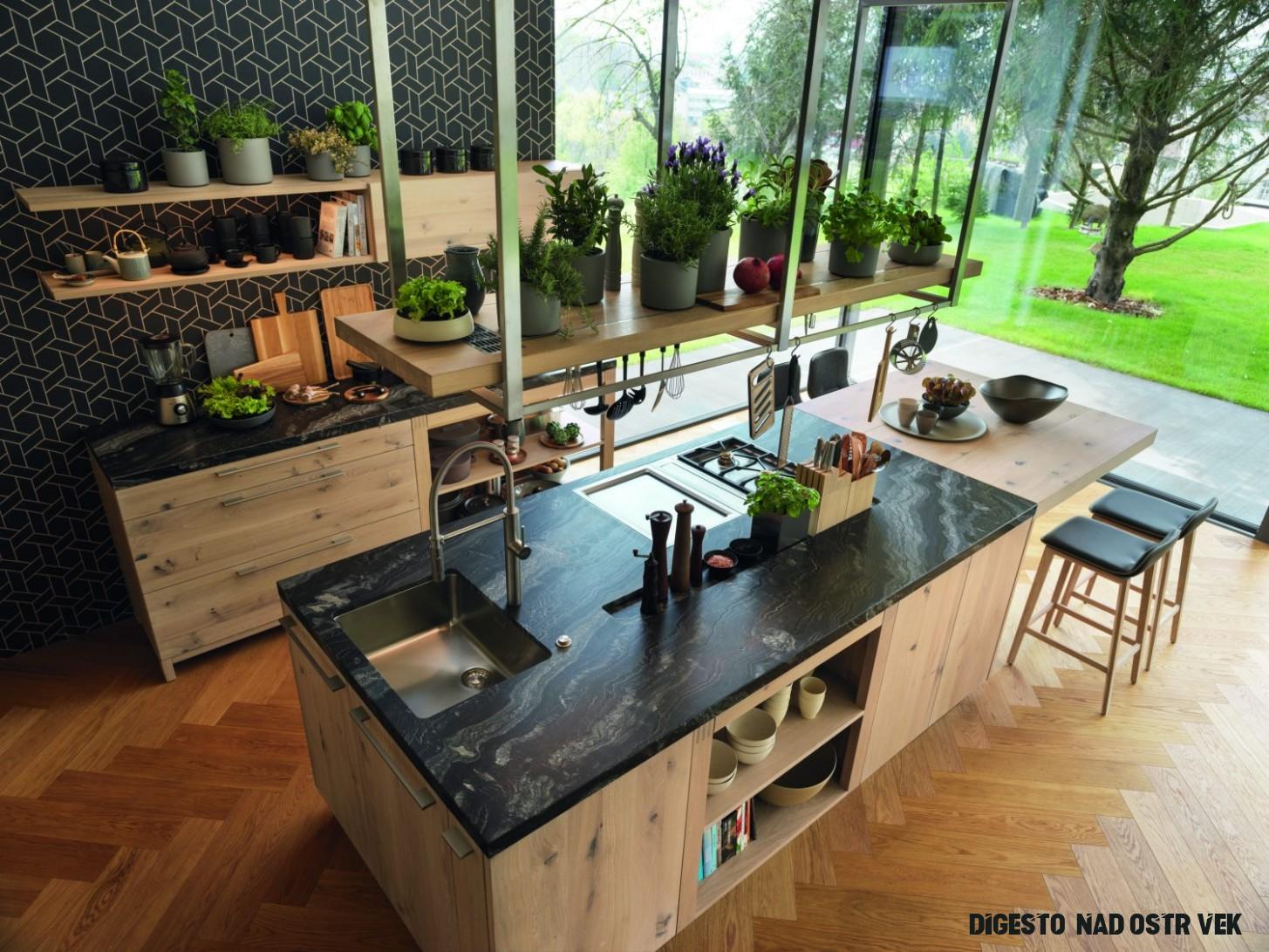 Oblíbený ostrůvek v centru kuchyně  Pěkné Bydlení